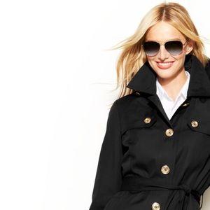 MICHAEL Kors MK black belted trench jacket…